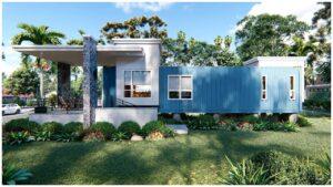 Přepravní kontejnerová budova 12x4   Design malého domu