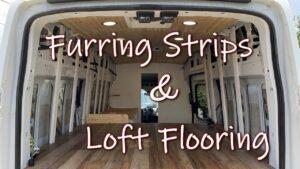Převod van: Furring Strips | Loftové podlahy Off Grid Tiny House Art Studio na kolech