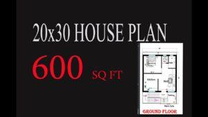 PLÁN DOMŮ 20X30 FT !! MALÝ PLÁN DOMŮ !! MAKAN KA NAKSHA !! घर का नक्शा