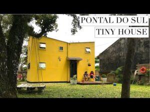 Prohlídka drobného domu Pontal do Sul, malého pevného domu v Pontalu do Paraná, k dispozici k pronájmu