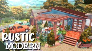 RUSTIC MODERN TINY HOUSE (bez odkazů) || The Sims 4: Speed Build