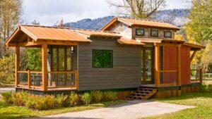 Rustikální moderní Caboose Pre-fab malý dům na prodej od Wheelhaus