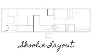 SKOOLIE LAYOUT | Serendipibus | Demo den 2 | Převod školního autobusu Malý dům na kolech | Vlog