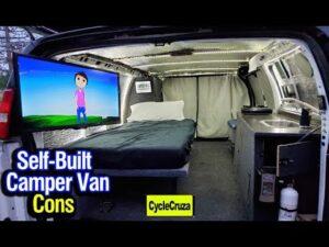 Self Built Camper Van CONS & Nové režimy | Tiny Home