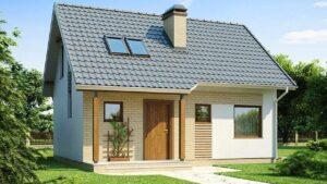 Snadný a levný malý domeček Z71 se sedlovou střechou