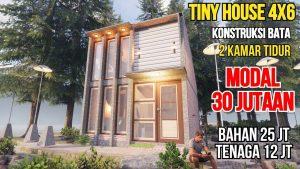 Stavět domy 30 milionů vydání Tiny House 4x6 Brick Construction