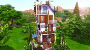 TALL TINY HOUSE THE SIMS 4 - Speed Build (NO CC)