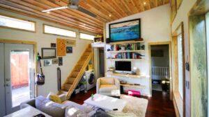 Velmi dobře navržený malý dům na prodej ideální pro rodiny s dětmi v Kalifornii Malý dům velké bydlení