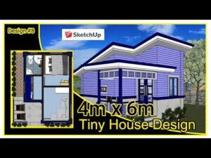 1 ložnice Malý dům   4m x 6m Tiny Home Designové nápady