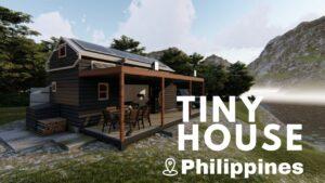 3 BEDROOM TINY HOUSE FILIPPINES 3D ANIMACE 3,5 x 8m | ARKIPEACE