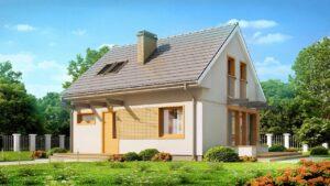 45,7 m² Krásný moderní malý dům s podkrovím, funkční a ekonomický   Nápady 5T1