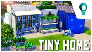 BAREVNÝ KONTAJNER TINY HOME    Speed Build    The Sims 4: Ekologický životní styl (bez CC)