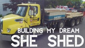 Budování mého snu SHE SHED (malý postup při stavbě domů !!)