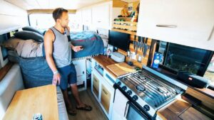 DIY Promaster Camper Van - FULL of Clever Storage & Design Hacks
