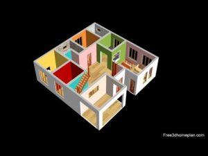 Design malého domu o rozměrech 12x12 metrů pro 20 lac 3 ložnice v americké kuchyni s parkováním do roku 2020