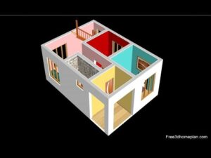 Design malého domu o rozměrech 6x9 metrů pro 8 ložnic Lac, americká kuchyně s parkováním 2020
