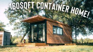 Home s přepravním kontejnerem 160 sqft s terasou na střeše | Kompletní prohlídka malého domu Airbnb!