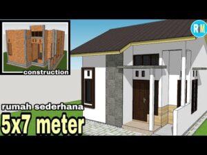 Jednoduchý dům 5x7 metrů    malý dům