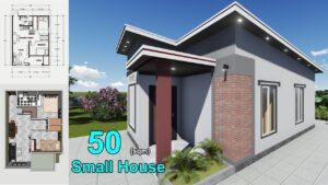Jednoduchý design malého domu (50SQM)