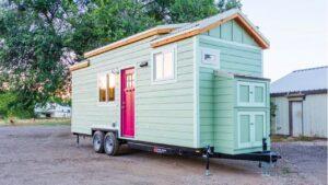 KerriJo's 24 'Tiny Home - SIPs Panel Construction   Životní Design Pro Malý Dům