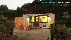 Kontejner Tiny House Studio na vinici, Temecula, CA, USA