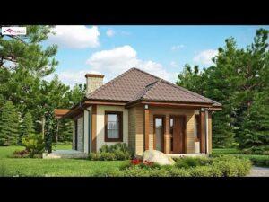 Krásný malý dům Design 50SQM až 73SQM s půdorysem a rozvržením