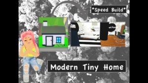 MODERN TINY HOME * Speed ​​Build * (Roblox Adopt Me)