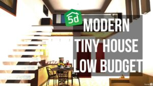 MODERN TINY HOUSE #LOW BUDGET #TUTORIAL PLANER 5D