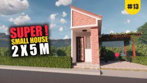 Malý dům 2 x 5 metrů (10 m²) Se zahradou Pergola