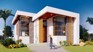 Minimalistický malý dům (56 SQM.)