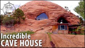 Moderní jeskynní dům je životním snem člověka - 5700 čtverečních stop!