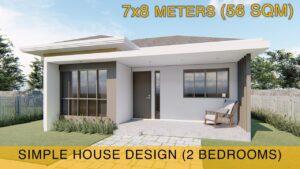 Myšlenka malého domu (7x8 metrů) 56m2 se dvěma ložnicemi