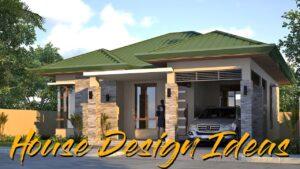 Nápady pro design malého domu l Jednoduché a malé moderní dům Bungalov l Kompletní plány s interiéry