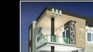Nový domovský design 2020, design malého domu, nejlepší moderní design vily, procházka, přední 33 ft