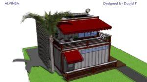 Přepravní kontejner Guest House - minimalistický 20ftový přepravní kontejner malý domek za $ 39k - plná prohlídka