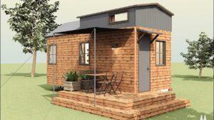 Perfektní půdorys chalupy malého domu podle modelu WoodyWay