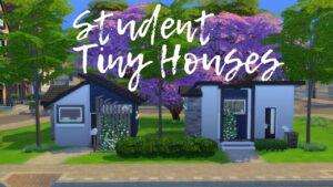 STUDENT TINY HOUSES // Sims 4: Speed Build (NO CC)