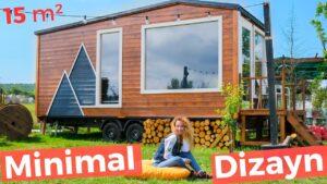 Skandinávský styl neuvěřitelně krásný 15 m² malý dům (DOLLING! 🎁) | Tiny House Turecko