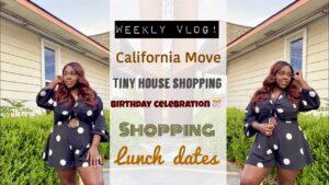 Týdenní vlog - oslava narozenin, Kalifornie se stěhuje, datum oběda, nakupování v malém domě, chatovací chat 2020