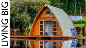 Tato plovoucí malá kabina je dokonalým městským útěkem