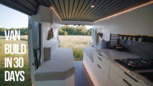 VAN BUILD ZA 30 DNÍ | MODERNÍ DOVOZ DOMÁCÍ NA KOLE | Izolace, elektroinstalace, solární a střešní větrání