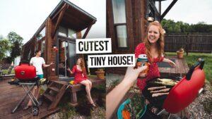 Vlastní izolace VACATION! - Rozkošný Tiny House Tour a BBQ Cookout v Cincinnati 😍